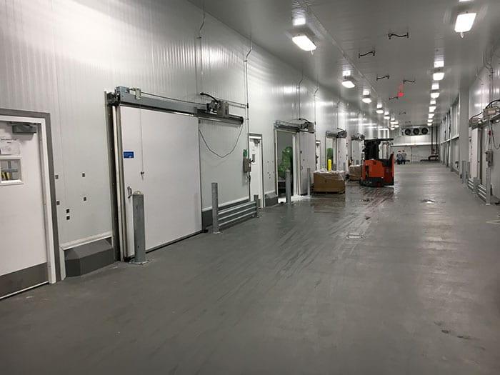 Assorted Jamison doors in hallway