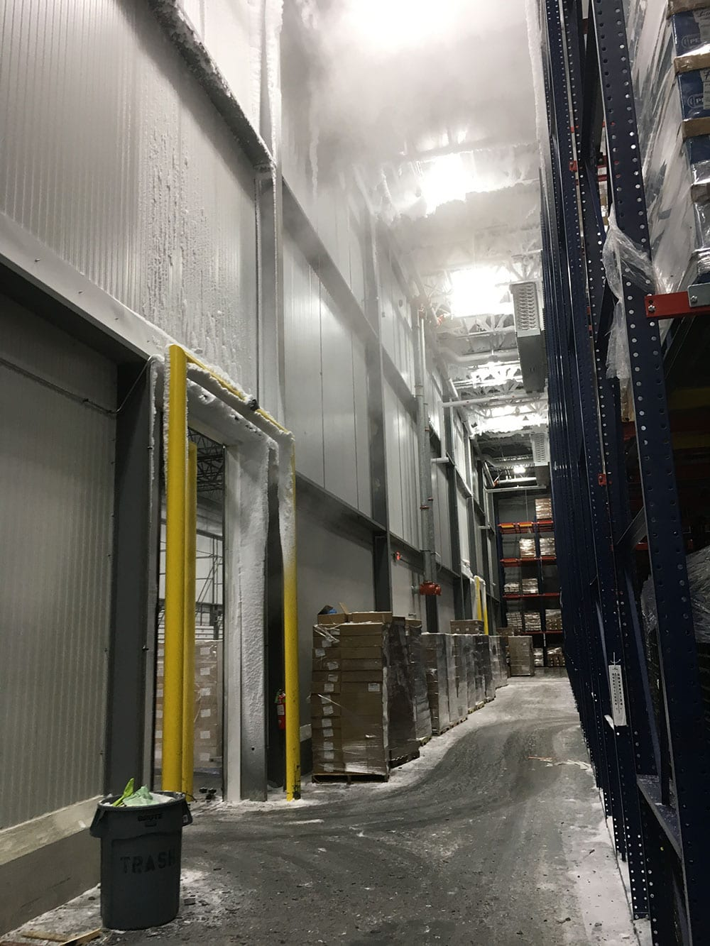 Before install of HCR Doors, showing frost, fog and ice
